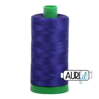 Aurifil 40 Cotton Thread - 1200 (Deep Purple/Blue)